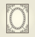 oval frame with ornate curly corners vector image vector image