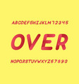 over font alphabet vector image vector image
