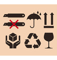 Packing symbols vector image vector image