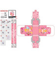 pink cupid box template in flat style vector image