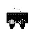 programming black concept icon programming vector image vector image
