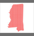 red dot map of mississippi vector image vector image