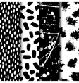 seamless modern ink pattern set Messy ink vector image vector image