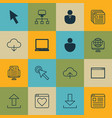set of 16 web icons includes local connection vector image vector image