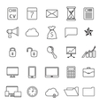 Set of thin line flat business icons