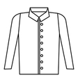 Shirt icon outline style vector image vector image
