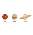 solar system planets paper cut vector image
