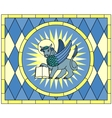 Symbol of Luke the Evangelist Winged Ox vector image vector image