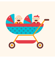 Twins in Carriage vector image vector image