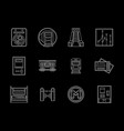 urban subway flat line icons set vector image vector image