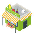 vegetables market icon isometric style vector image