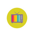 vintage tv set - concept colored icon in flat vector image