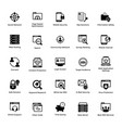 web and graphic designing glyph icons set 7 vector image