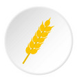 wheat ear icon circle vector image vector image