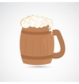 Wooden jug of beer vector image