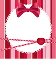pink scrap background with bow vector image