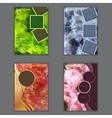 Set of vertical presentation of business flyer vector image