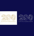 200 anniversary vintage silver gold vector image vector image