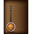 A Beautiful Banjo on Dark Brown Background vector image