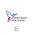 abstract bird logo design template creative dove vector image vector image