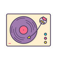 analog music player recorder or turntable playing vector image vector image