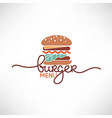 burger menu logo template with simple flat vector image vector image