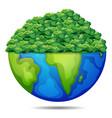 bush on the earth vector image