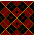 Card Suits Royal Red Black Diamond Background vector image vector image