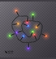 christmas decoration lights effects isolated vector image vector image