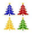 Christmas trimmings Christmas tree faience vintage vector image vector image
