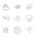 climatological icons set outline style vector image vector image