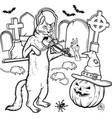 coloring book halloween characters vector image vector image