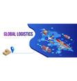 connection global logistics scheme vector image
