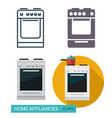 cooker icons vector image vector image