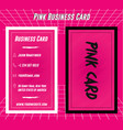 Creative pink business card print template design
