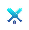 cricket icon on white vector image vector image