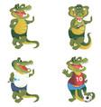 crocodiles set vector image vector image