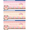 cute pastel face book page cover banner and vector image vector image