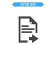 document icon flat icon vector image