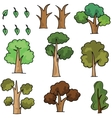Doodle of tree cartoon style vector image