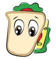 emoji a sad sandwich or color vector image vector image