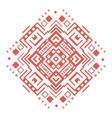 ethnic geometric decorative pattern ornament vector image vector image