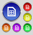 File document icon sign Round symbol on bright vector image
