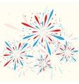 Firework background vector image vector image