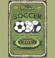 football or soccer sport retro poster vector image vector image