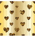 garland with Golden heart vector image