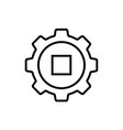 gear icon line art style vector image vector image