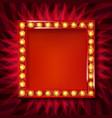 gold square retro frame vector image