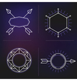 hipster elements background vector image