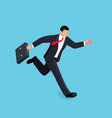 isometric running businessman isolated vector image vector image